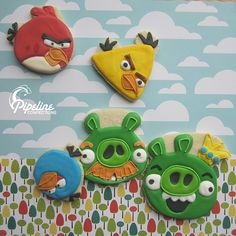 Christopher would love these!! Angry Birds cookies