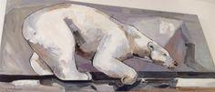 Nom de l'oeuvre : Nuna #MartaMilossis Polar Bear, Les Oeuvres, Horses, Painting, Animals, Animais, Animales, Animaux, Paintings