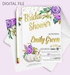 Bridal Shower Invitation Printable pumpkin Bridal by AlniPrints  #Bachelorette #Bridal #Shower #Invitation #brunch #idea #invite #Lingerie #party #dinner