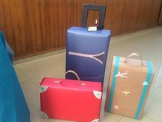 Luggage for stage Airport Theme, Around The World Theme, Airplane Party, Travel Party, Vacation Bible School, Thinking Day, Dramatic Play, Travel Themes, Classroom Themes