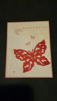 """Valentine's """"Butterfly"""" lover card"""