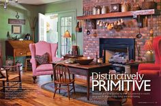 country  homes from country sampler ..I really like this  look  :) for the home