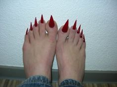 can you believe anyone who would grow their toenails out this long ...
