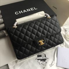 Image result for chanel 2.55 caviar leather