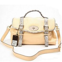 eccde310c0e Perfect Mulberry Alexa Bag with Snake Strap Beige Mulberry Daria, Mulberry  Bag, Satchel Bag