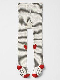 Graphic stripe tights