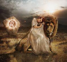 Leo artwork Leo print Leo fantasy art Lion by EnchantedWhispersArt