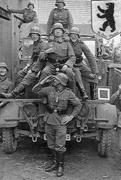 Some German soldiers having some fun