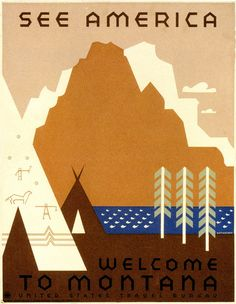 WPA poster from 1936 through 1938 by Jerome Henry Roth.