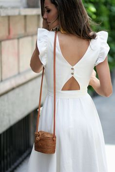 Summer Fashion For 70 Year Olds romantic dress.Summer Fashion For 70 Year Olds romantic dress Cute Dresses, Casual Dresses, Fashion Dresses, Glam Dresses, Back Dresses, Midi Summer Dresses, Neutral Summer Dresses, White Dress Summer, Ladies Dresses
