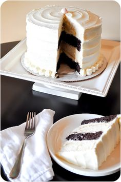 Lemon Sugar: Black & White Cake