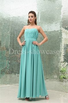 Floor-Length Chiffon Sweetheart Turquoise Holiday Dress Wholesale Price: US$ 129.99