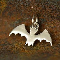 Sterling Silver Bat Charm  Animal Charms Bat Bats by catsjewel