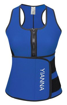 11495f2bfb YIANNA Sweat Neoprene Sauna Suit Waist Training Vest Sauna Tank Top Vest  With Adjustable Waist Trimmer