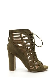 Pencil You In Lace-Up Caged Heels GoJane.com