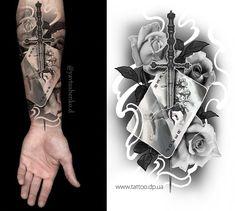 Дизайн тату флеша . Запись на татуировку открыта #SkrypNYakART #TATTOOING #GermanyINK #татуювання