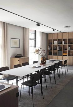 The Audo - a new hybrid space from Menu Dining Room Design, Dining Room Furniture, Dining Rooms, Kitchen Dining, Office Interior Design, Office Interiors, Modern Interior, Workspace Inspiration, Furniture Inspiration