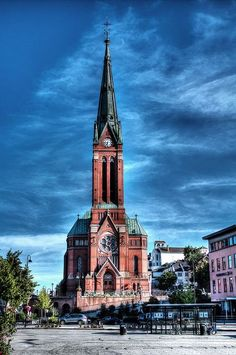 Church of Holy Trinity, Arendal, Norway by Oyvind Bjerkholt