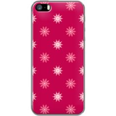 Artistic floral on dark pink iPhone case - By cycreation