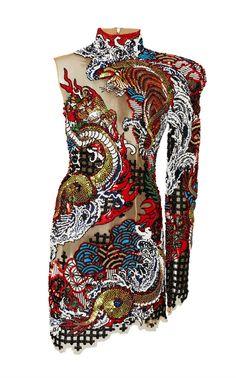 Asymmetric Cutout Embroidered Dress by BALMAIN for Preorder on Moda Operandi Pretty Dresses, Beautiful Dresses, Mode Unique, Fashion Details, Fashion Design, Jacquard Dress, High Fashion, Womens Fashion, Stage Outfits