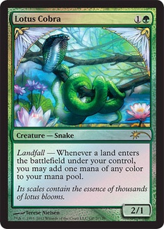 Alternate art 2012 Magic: the Gathering Grand Prix Lotus Cobra http://www.examiner.com/magic-the-gathering-in-boston/alternate-art-2012-magic-the-gathering-grand-prix-lotus-cobra #examinercom