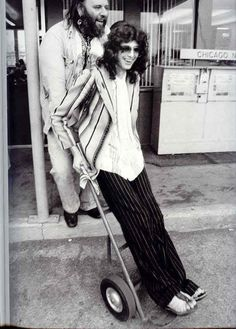 Jimmy Page and Peter Grant