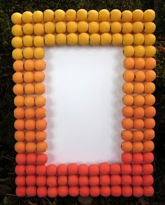 Dollar Store Crafts » Blog Archive » Tutorial: Ombre Bead Frame