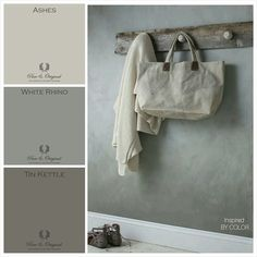 Pure & Original Moodboard from Inspired By Color of our new colors Ashes…