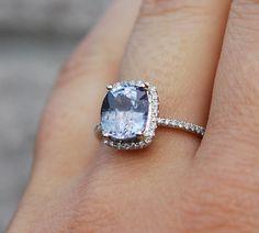 Gorgeous Sapphire Engagement Ring!!! 14k White Gold 2.85ct by EidelPrecious