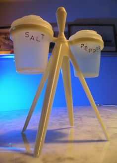 atomic Tupperware Salt & Pepper  // I have these! My grandparents have a seemingly endless supply