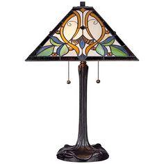 Robert Louis Tiffany Victorian Art Glass Table Lamp