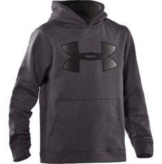 WILL : ( dark gray ) Under Armour Boys Storm Big Logo Hoodie - Dicks Sporting Goods
