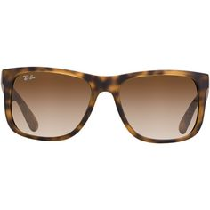Ray-Ban Justin Sunglasses ($109) found on Polyvore