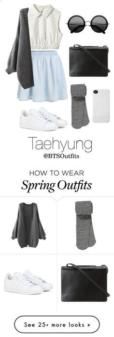 Spring Outfit Inspired by Taehyung by btsoutfits on Polyvore featuring moda, BCBGMAXAZRIA, The Row, adidas, maurices, Incase, womens clothing, women, female e woman