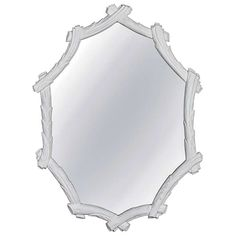 Vintage Faux Bois Mirror in White Gesso | From a unique collection of antique and modern wall mirrors at http://www.1stdibs.com/furniture/mirrors/wall-mirrors/
