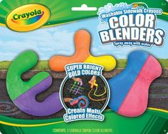 Crayola 3ct Sidewalk Crayon Blenders by Crayola. Save 79 Off!. $1.49. Eye catching and ergonomic. Allows kids to create and color detailed outdoor drawings and scenes. Bright bold sidewalk crayons. Washable simply spray with water. Fun creative outdoor coloring. From the Manufacturer                Crayola 3ct Sidewalk Crayon Blenders is multi colored crayons for fun art.                                    Product Description                Sidewalk Crayon Color Blenders. The...
