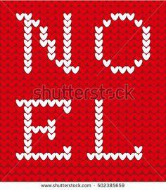 Knitting New Year motif