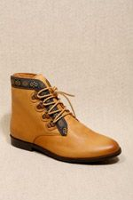 Deena & Ozzy Heidi Tan Folk Trim Leather Boots