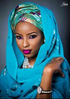 Mimi's Makeover Nigerian Bride Makeup Photo Shoot on BellaNaija Weddings 201 African Girl, African Beauty, African Women, African Style, Wedding Makeup Looks, Wedding Beauty, African Inspired Fashion, African Fashion, Hair Wrap Scarf