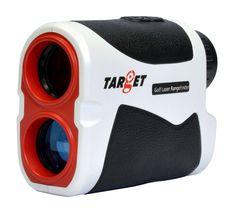 Target Golf Laser Range Finder Scope 600 Yards Hunting Distance Rangefinder Slope Angle Measurer with Microfiber Cleaning Cloth, Carrying Case, Belt Loop Pearl White