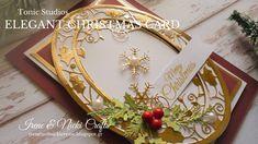 Tonic Studios| Elegant Christmas Card Tonic Christmas Cards, Elegant Christmas, Craft Work, Craft Kits, Irene, Studios, Magazine, Make It Yourself, Projects