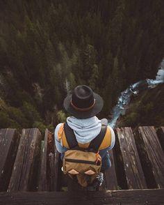 Taking in the view – The Vance Creek Bridge
