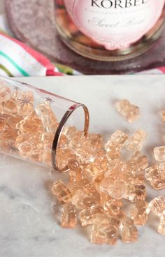 Super easy to make with just 3 ingredients Pink Champagne Gummy Bears recipe is the perfect way to celebrate any occasion suburbansoapbox Champagne Gummy Bears, Pink Champagne, Champagne Jello Shots, Champagne Birthday, Mini Champagne Bottles, Champagne Party, Homemade Candies, Homemade Gummy Bears, Homemade Gummies