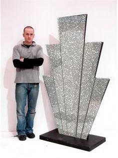 Art Deco Starburst Prop (Silver Glitter)