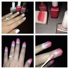 Ombre nails- pink manicure