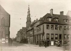 Dronningens Gade og hjørnet af Christianshavns Torv 1905