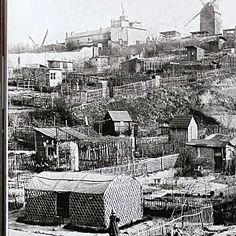 The Maquis, Montmartre, c.1895. The northern flank of the hill was an area of scrubland that became an illegal shanty town.