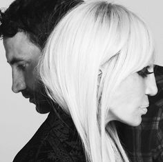 """Creative Director of Givenchy Riccardo Tisci has cast Donatella Versace as his ultimate icon for the new autumn/winter 2015 campaign. Two designers side by side in a beautiful black and white campaign - that's a new one! Donatella said: """"Together we break fashion boundaries today!"""""""