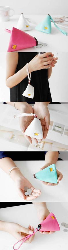 PU Leather Tetrahedral Coin Purse