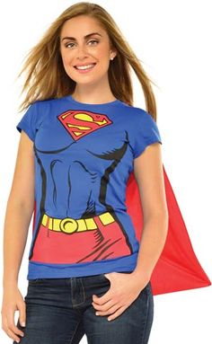 Adult T-shirt Supergirl Costume
